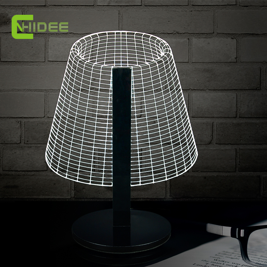 Buy novel dimmable diy 3d table light for for Diy bedroom lamp