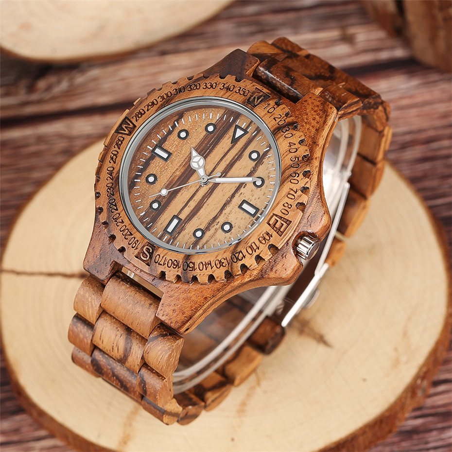 YISUYA Luxury Full Wooden Watch Men Fashion Simple Zebra Wood Analog Creative Watches Modern Casual Men's Clock Gift 2017 New  (1)