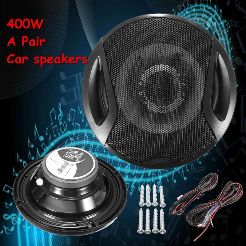 Universal A Pair 6 Inch 12V 400W Car Subwoofer Max Iron Plastic 2-Way 2 Voice Coaxial Audio Car Speakers Car Sound ...