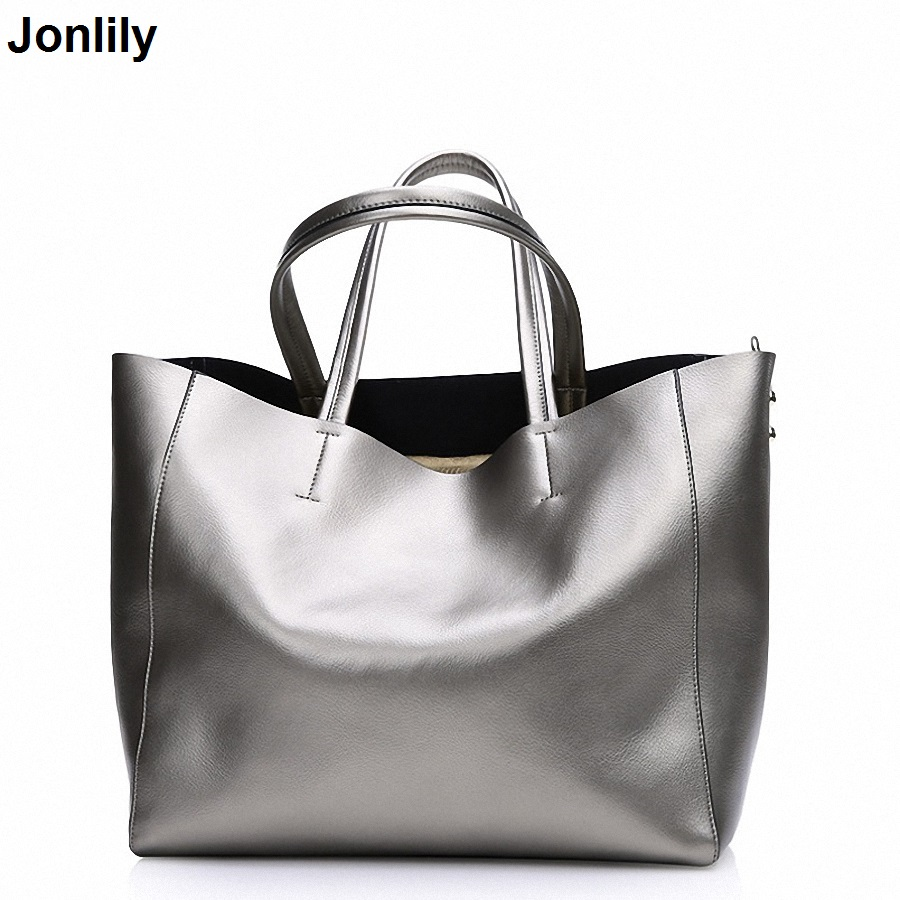Women Shoulder bags Genuine Leather tote Bag female luxury handbag High Quality Large capacity bolsa feminina SLI-156 arlanfivis genuine leather bags for women luxury large capacity handbag new 2018 fashion bolsa feminina ladies tote shopping bag