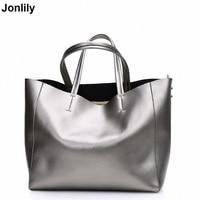 Women Shoulder bags Genuine Leather tote Bag female luxury handbag High Quality Large capacity bolsa feminina SLI 156