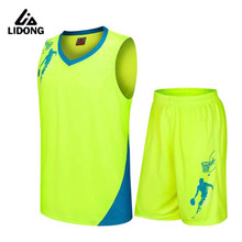 LIDONG Men Women Basketball Jerseys Sets Uniforms kit Sports Cloth Uniforms Shirts Jersey Shorts Breathable DIY Number Name Logo