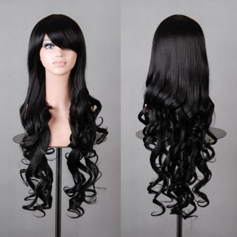 HAIRJOY Synthetic 80cm Long Wavy Hair Womens Costume Wig 10 Colors Available Free Shipping