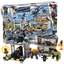 Super Heroes Avengerss Compound Battle Compatible Sermoido 76131 Model Building Blocks Bricks Educational Toys Gifts lepin 05045 star battle genuine series the b starfighter wing educational building blocks bricks toys legoing 10227 gifts model