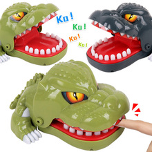 18cm 2019 Hot Sale New Creative Small Size Crocodile Mouth Dentist Bite Finger Game Funny Gags Toy For Kids Play Fun dinosaur