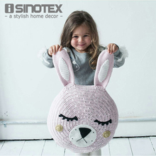 Ins Cute Animal Rabbit Cushion Knitted Crochet Handmade Pillow Plush Soft Toy for Children 30*30cm Home Decoration