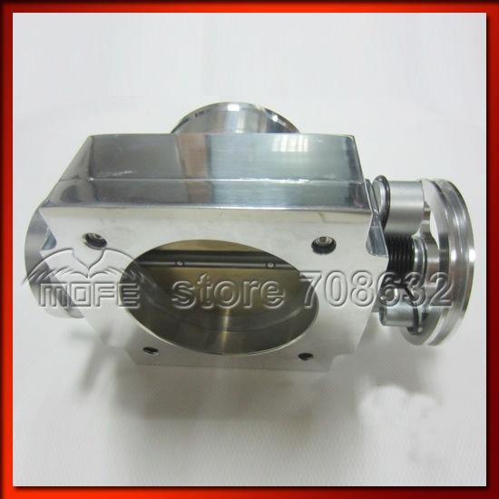 Высокое качество Алюминий сплав Универсальный vq37tps Дроссельной заслонки серебро