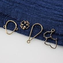 10Pcs Korean Earrings alloy geometric puppy circle bow earrings for Women bracelet girls pendant DIY ear jewelry accessories