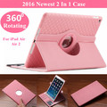2016 Newest Case For iPad Air 360 Rotating Card Slots PU Leather Stand Case Cover For iPad Air 2 Tablet Case