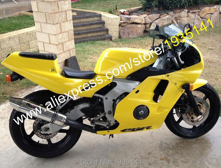 Hot Sales,For Honda CBR250RR 1990 1991 1992 1993 1994 CBR 250 RR 90 91 92 93 94 Yellow Motorbike Fairing Kit (Injection molding)