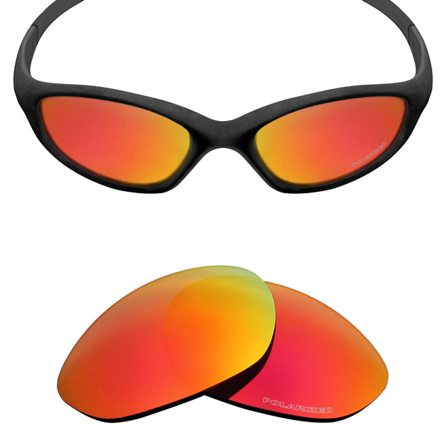 d02afacb7a Mryok+ POLARIZED Resist SeaWater Replacement Lenses for Oakley Minute 2.0 Sunglasses  Fire Red