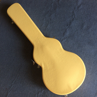 New style, high quality custom LP standard electric guitar case, yellow leather hard case with red lining, free shipping