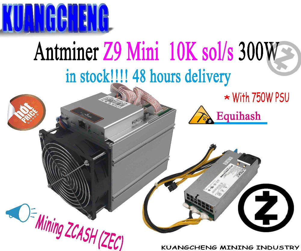 Utilisé ancien 80-90% nouveau Equihash Miner Bitmain Antminer Z9 Mini 10 k 300 W avec 750 W alimentation Asic Miner livraison rapide