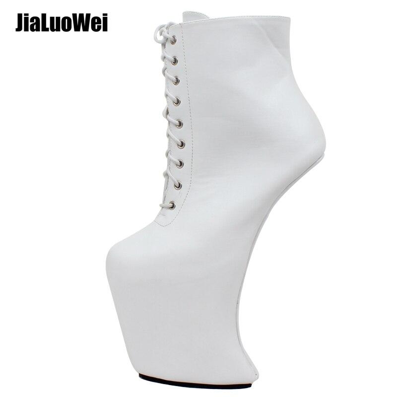 Grande taille chaussures pour femmes Super talons hauts Plate-Forme bottines Punk Rock Gothique bottes de motard