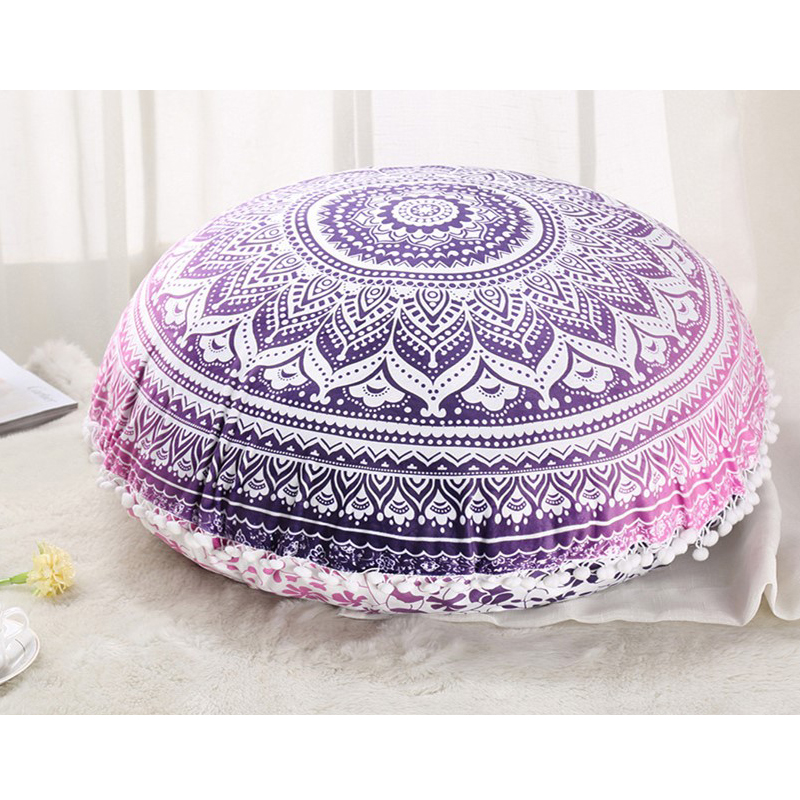 best website 62b18 cee32 US $16.9 50% OFF|Colorful Mandala Floor Pillows Ottoman Round Bohemian  Meditation Cushion Pillow Pouf48-in Cushion from Home & Garden on  AliExpress - ...