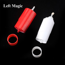 1 pçs vela de desaparecimento truque mágico vermelho e branco desaparecendo vela fogo magia close-up acessórios palco mentalismo ilusões