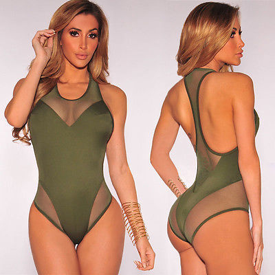 Padded Push Up Swimwear Sport Monokini Swimsuit One Piece Sexy Mesh Hollow Beach Zipper White Bathing Suit Vintage Trikinis