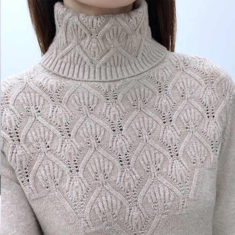 OHCLOTHING Truien En Pullovers Voor Vrouwen 2018 Herfst Winter Solid Coltrui Truien Vrouwelijke Toevallige Elastische Losse Jas Femme