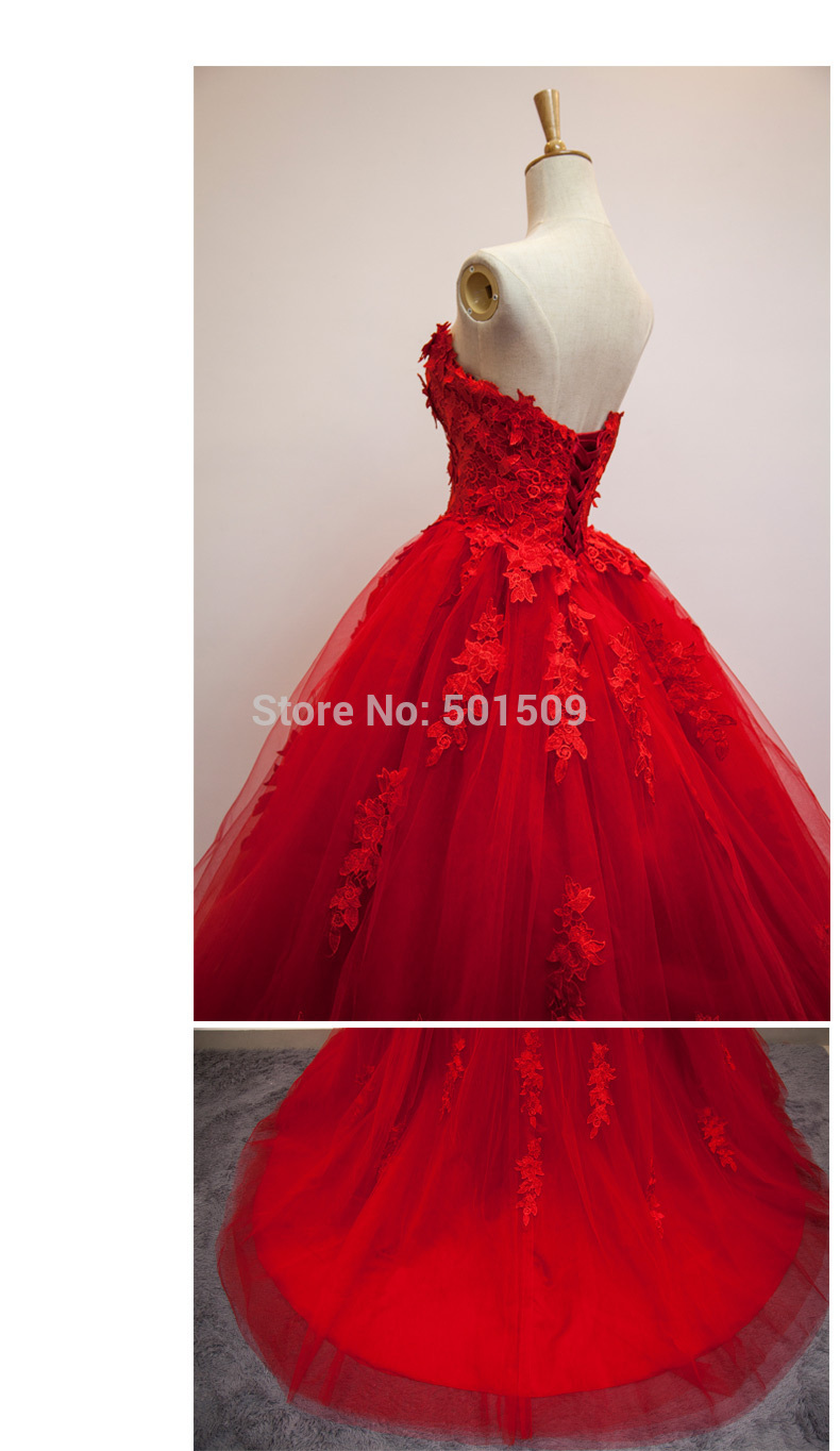 100%real luxury red rose flowers embroidery leaf ball gown belle ball long  medieval dress victoria dress-in Movie   TV costumes from Novelty   Special  Use ... 9b7aaab511b6