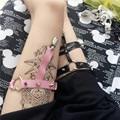 Женщины Двойные линии Уплотнительное кольцо Сексуальная Заклепки Панк Подвязки Ремни 2015 Проводов для чулок Мода Harajuku Ноги Кольца