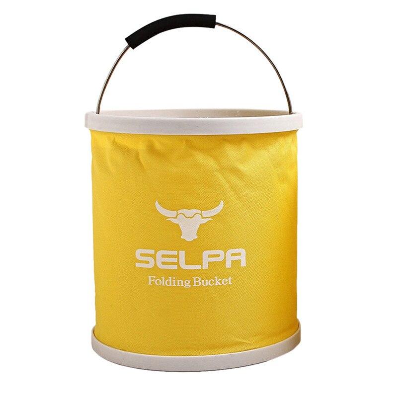 Outdoor Folding Bucket Camping Bucket Environmental Friendly Portable Folding Barrel 11L Storage Compressed bucket #2o05 (6)