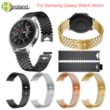 Stainless Steel Replacement smart wirst For Samsung Galaxy Watch 46mm band Bracelet black new 2018 22mm Fashion wrist