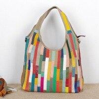 New vintage colorful leather female bag wholesale head layer cowhide hand bag color Baotan shoulder Bag Bulk Shopping Bag