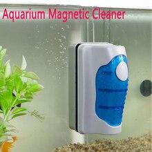 Magnetic Brush Aquarium Fish Tank Glass Algae Scraper Cleaner Floating Curve neje sz0051 1 aquarium fish tank magnetic cleaner plant algae floating scraper brush grey blue