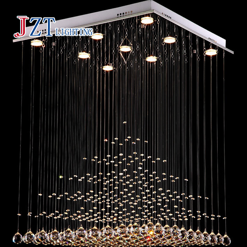 Z Best price  Modern K9 Square Crystal Chandelier Restaurant Lamp Hanging Wire Pyramid Crystal Lamp Project Lights free shipping best price creative pyramid crystal light bedroom restaurant lamp led hanging wire crystal lamp ceiling lights free shipping