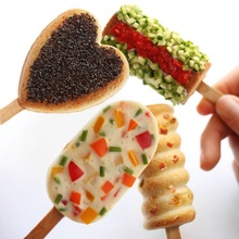 DIY Love Ice Cream Mold Food Grade Silicone Frozen Juice Popsicle Maker Lolly Tray Kitchen Tools Children Pop Mold цена и фото