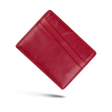 J.M.D Genuine Leather Card Holder Slim ID Case Credit Four Colors Mini Pack R-8101K/M/D/H