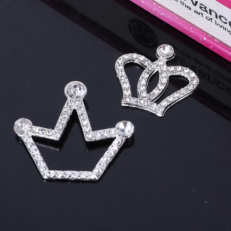 2017new 100 шт. горный хрусталь корона Пуговицы для украшения чехол для телефона и DIY аксессуары для волос BT163