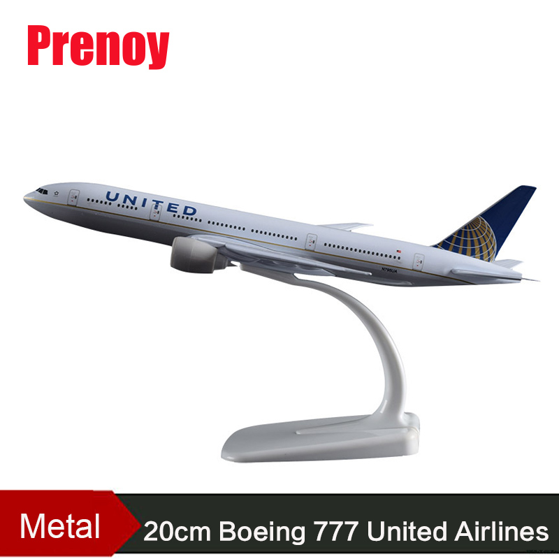 20cm Boeing 777 United Airline Model B777 America United State Airplane Airbus Metal Aircraft Model USA United Aviation Collect phoenix 11160 russian aviation vp bas 1 400 b777 200er commercial jetliners plane model hobby