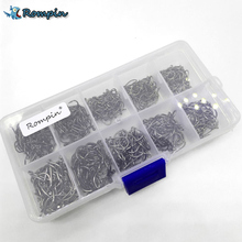 500Pcs/set mixed different size with Plastic Box packed #3~12 BronzeSea Fishing Hooks with hole Carbon Steel Sharp Hooks