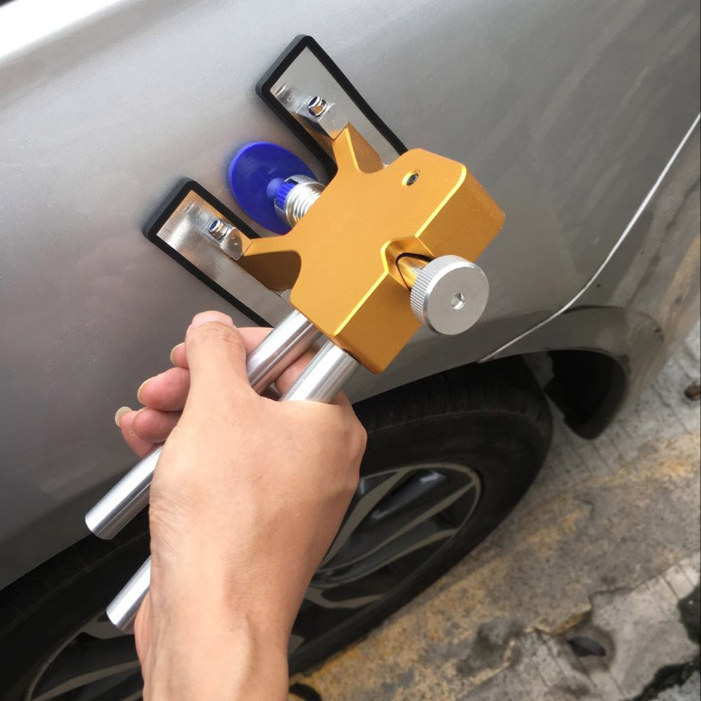 Carrosserie Débosselage sans peinture Outils Débosselage Dent Extracteur + 18 Onglets Dent Lifter Main Tool Set Outil kit Ferramentas