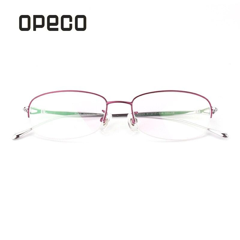 aac6595143 Opeco Pure Titanium de las lentes de las mujeres incluyendo lentes  recetados gafas RX receta gafas mujer 6625 en Gafas de sol de Accesorios de  ropa en ...