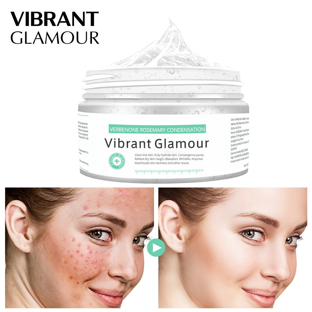 VIBRANT GLAMOUR Verbenone Rosemary Condensation Blackhead Acne Remove Face Mask Deep Cleaning Whitening Moisturizing Facial MaskVIBRANT GLAMOUR Verbenone Rosemary Condensation Blackhead Acne Remove Face Mask Deep Cleaning Whitening Moisturizing Facial Mask