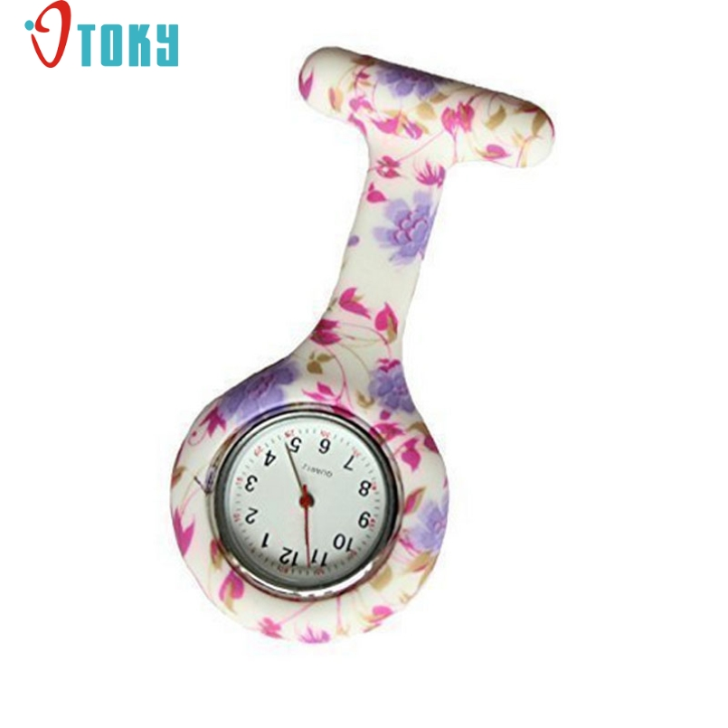 Excellent Quality OTOKY Attractive New Cute Silicone Nurse Watch Brooch Fob Pocket Tunic Quartz Movement Watch #BET-2