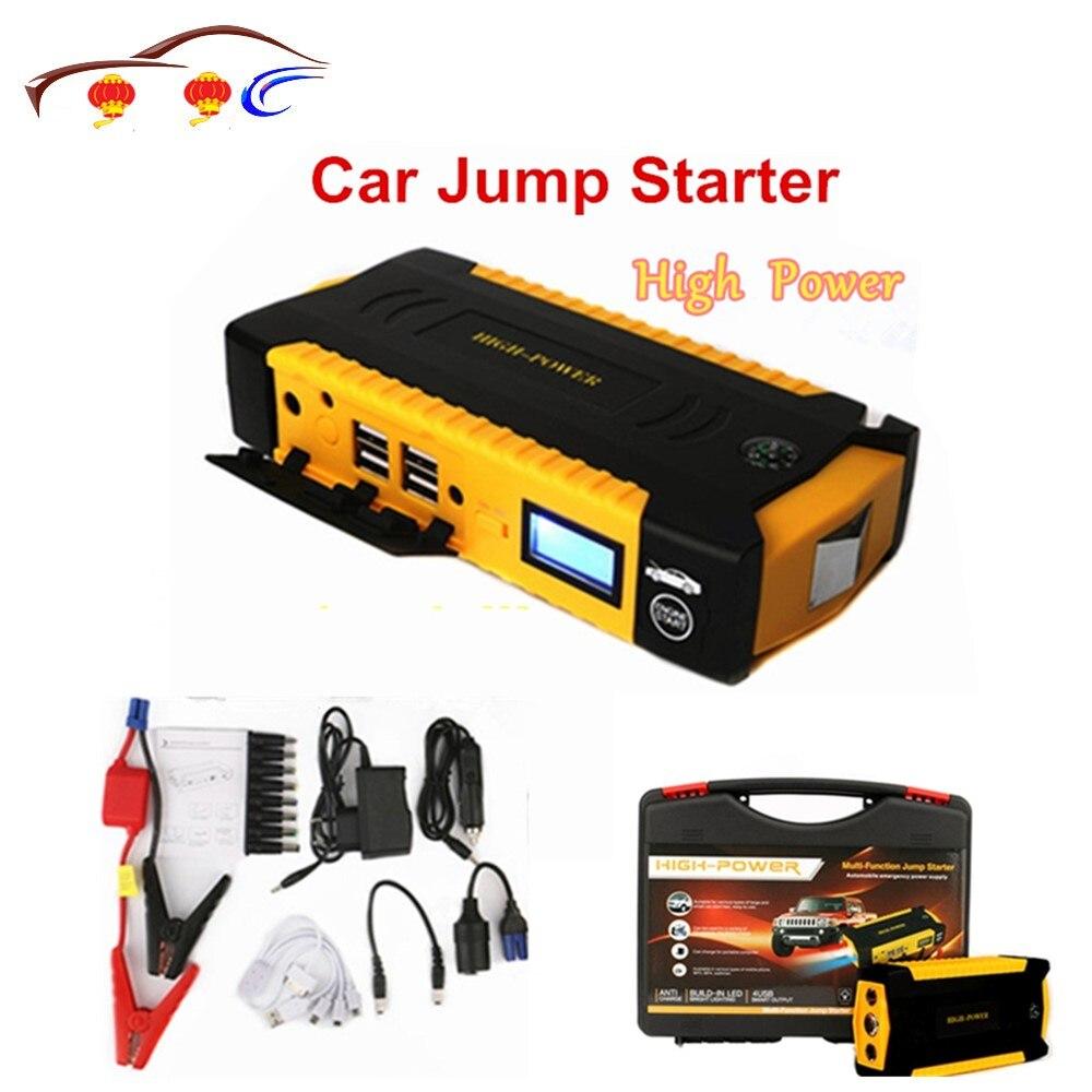 Démarreur de saut de voiture 12 V batterie haute puissance Portable batterie externe démarreur de saut de voiture pour voitures essence/Diesel