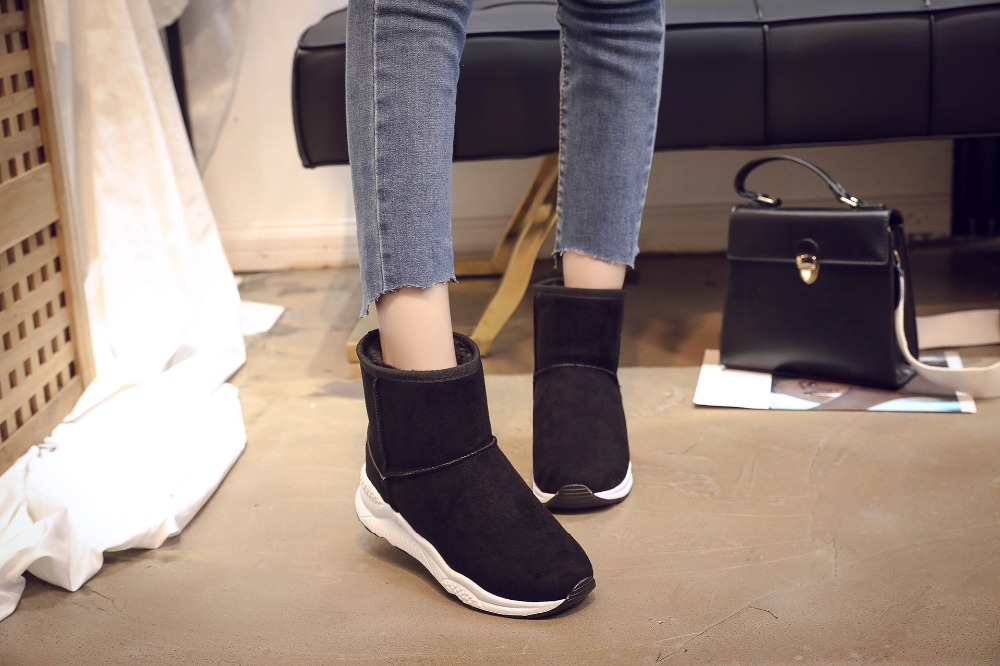Winter Snow Boots Women Casual Shoes Slip On Warm Plush Women Ankle Boots Flat Heel Sport Ladies Shoes Booties Botas Mujer XZ82 (11)