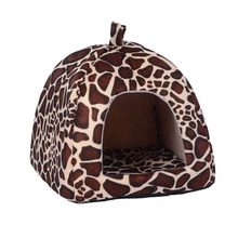 new pet cat house foldable warm soft winter dog bed strawberry cave dog house cute kennel nest dog cotton cat bed sxxl