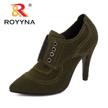 ROYYNA New Fashion Style Women Pumps Lace Up Women Dress Shoes High Heels Lady Wedding Shoes Comfortable Light Free Shipping 2016 fashion italian style rhinestone pumps shoes beautiful african shoes women for wedding free shipping black colors