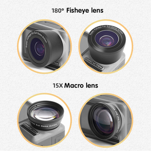 Image 4 - 2 in 1 15X Macro Wide Fisheye Lens Camera Kit for DJI Osmo Action Optical Glass Lens Vlog Shooting Additional Lenses Accessories