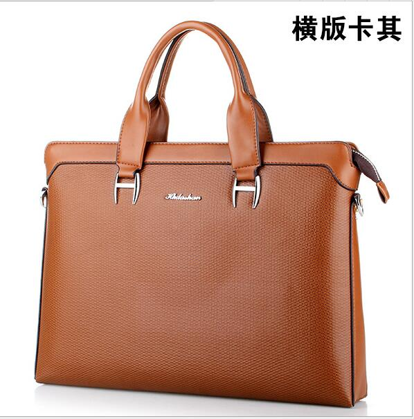 HK dashan mens briefcase pu leather brown 2016 new man business dress handbags laptop bags for men casual male shoulder bags 3colors hk dashan brand men s briefcase high quality pu leather business man 15 laptop handbags black fashion casual male bags