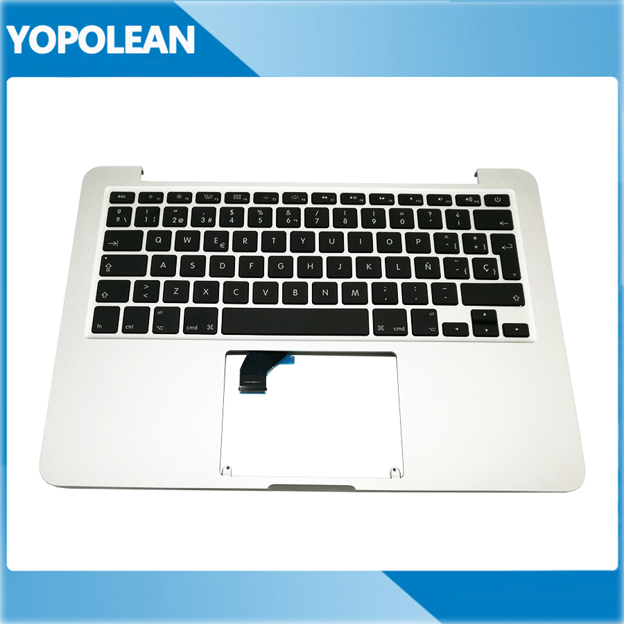 New Spain Spanish Topcase Top Case Palmrest Keyboard For Macbook Pro 13 A1502 2015 2016 Years
