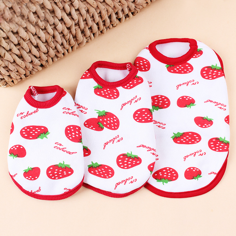 Sweet Strawberry Printed Small Mini Pet Cat Dog Teacup