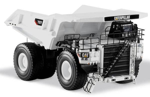 N-55243 1:50 CAT 797F горный грузовик белого цвета