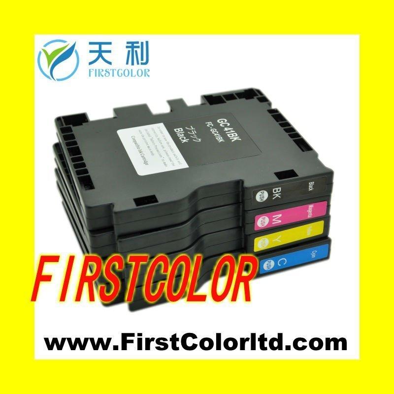 ФОТО X4PCS  1Set GC41 GC 41 Dye Sublimation ink cartridge for Ricoh IPSIO SG 3100 2100 2010L 3110 7100  sg3110dnw sg3100dn sg2100n