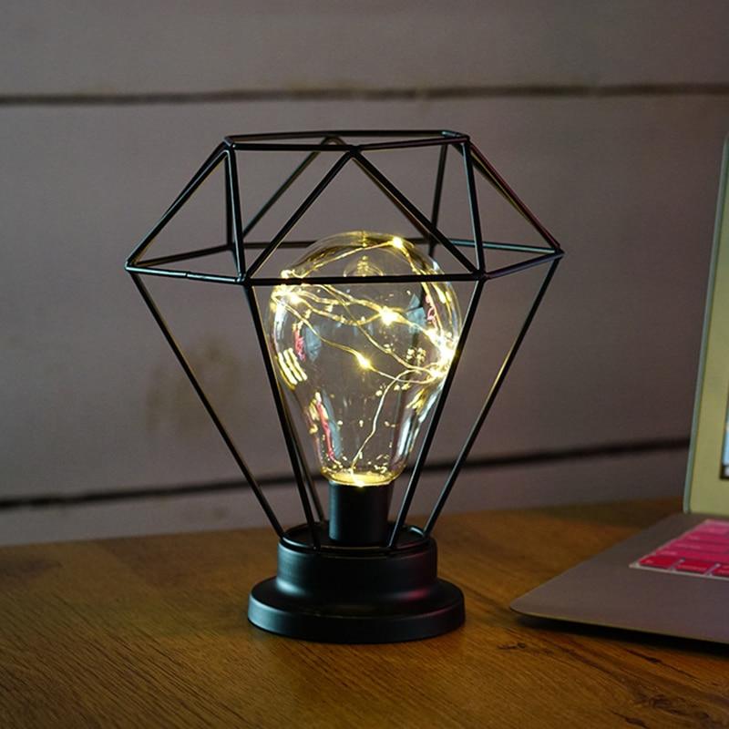 Aliexpress.com : Buy Diamond Polygon Nightlight Iron Frame ...