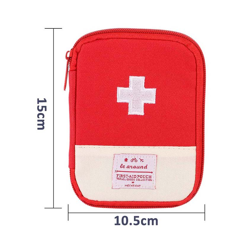 N Outdoor Portable Medicine First Aid Pack With Zipper Emergency Medical Survival Kit Bag Wrap Gear Bag Hiking Hunting